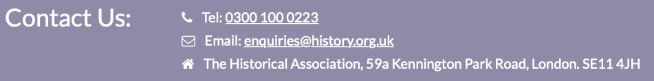The Historical Association Annual Conference